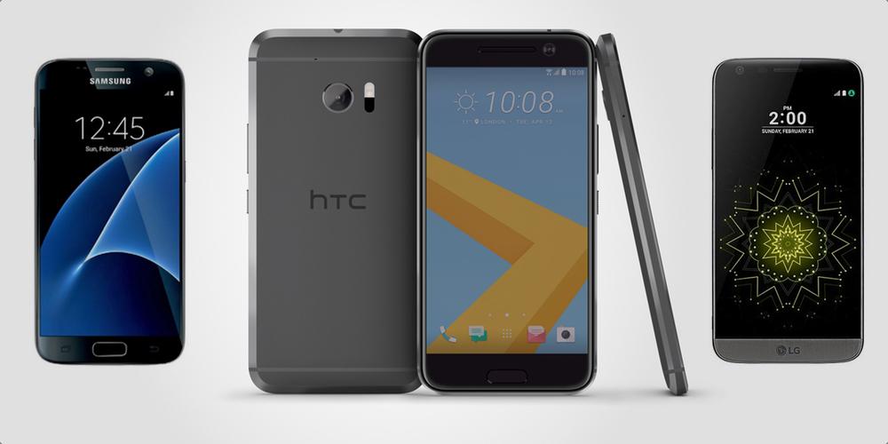 HTC 10 e Galaxy S7